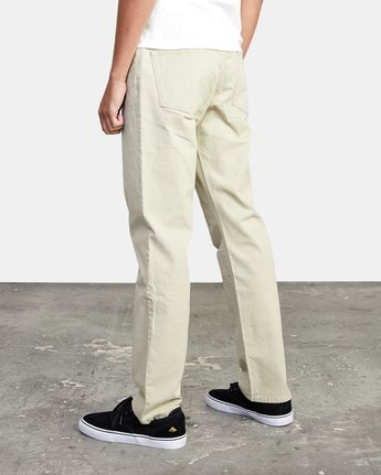 6 week-end TWILL STRAIGHT FIT PANT Beige M3483RWT RVCA