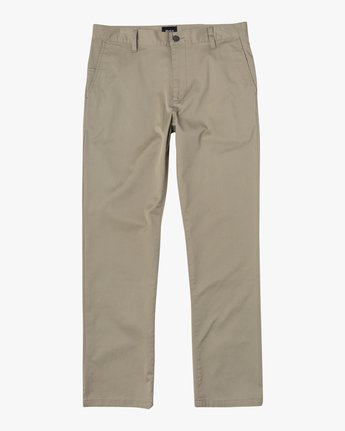 1 week-end Stretch straight fit Pant Beige M3493RWS RVCA