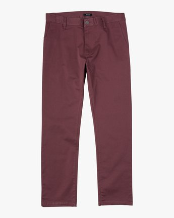 8 WeekEnd Stretch straight fit Pant Red M3493RWS RVCA