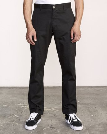 2 week-end Stretch straight fit Pant Black M3493RWS RVCA