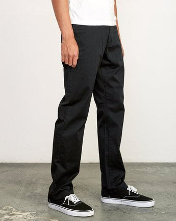 6 week-end Stretch straight fit Pant Black M3493RWS RVCA