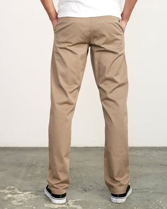 3 week-end Stretch straight fit Pant Grey M3493RWS RVCA
