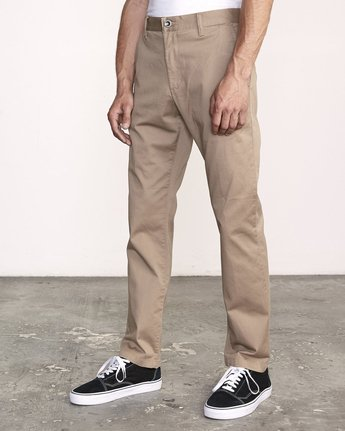 4 week-end Stretch straight fit Pant Grey M3493RWS RVCA