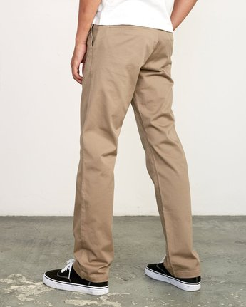 5 week-end Stretch straight fit Pant Grey M3493RWS RVCA