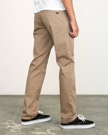 6 week-end Stretch straight fit Pant Grey M3493RWS RVCA