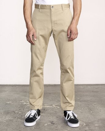 2 week-end Stretch straight fit Pant Beige M3493RWS RVCA