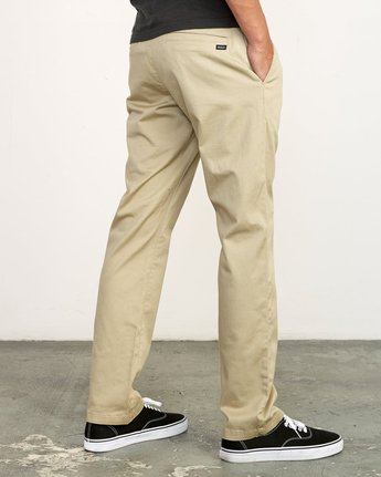 6 week-end Stretch straight fit Pant Beige M3493RWS RVCA