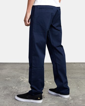 5 week-end Stretch straight fit Pant Blue M3493RWS RVCA
