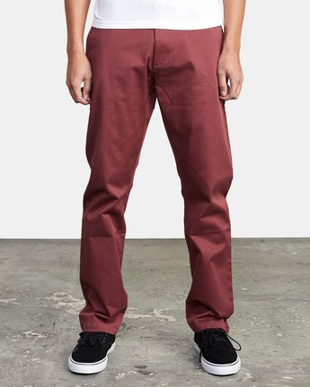 2 WeekEnd Stretch straight fit Pant Red M3493RWS RVCA