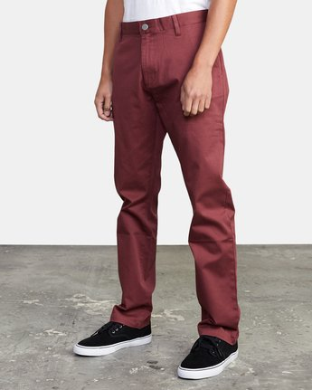 5 week-end Stretch straight fit Pant Red M3493RWS RVCA