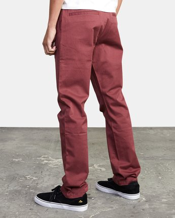 6 week-end Stretch straight fit Pant Red M3493RWS RVCA