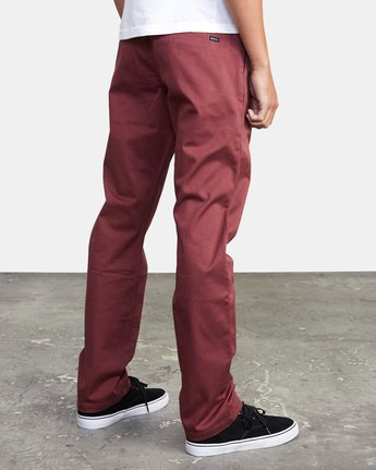 7 week-end Stretch straight fit Pant Red M3493RWS RVCA