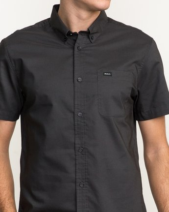 5 That'll Do Oxford Shirt Black M3514TDS RVCA
