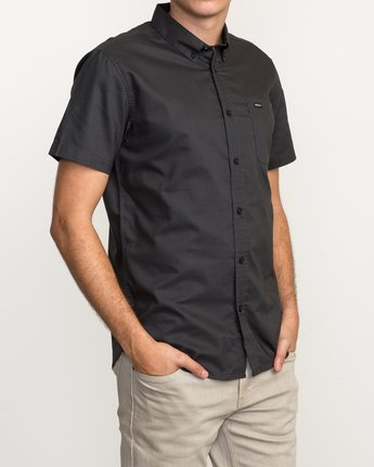 3 That'll Do Oxford Shirt Black M3514TDS RVCA