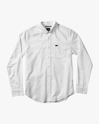 0 That'll Do Oxford Long Sleeve Shirt White M3515TDL RVCA