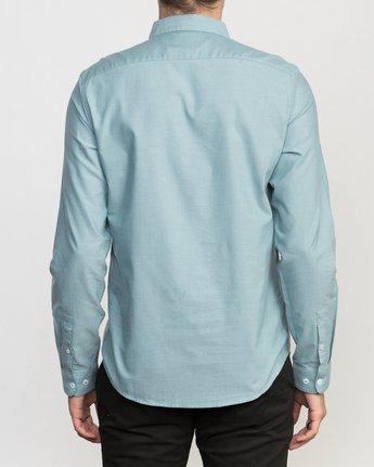 3 That'll Do Oxford Long Sleeve Shirt Blue M3515TDL RVCA