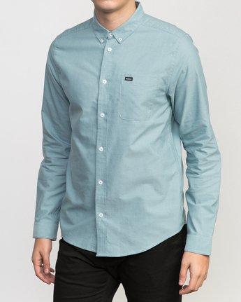 2 That'll Do Oxford Long Sleeve Shirt Blue M3515TDL RVCA