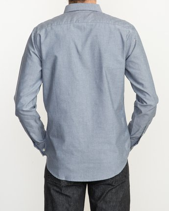 4 That'll Do Oxford Long Sleeve Shirt Blue M3515TDL RVCA
