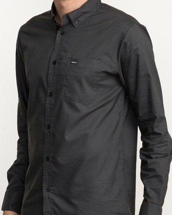 5 That'll Do Oxford Long Sleeve Shirt Black M3515TDL RVCA