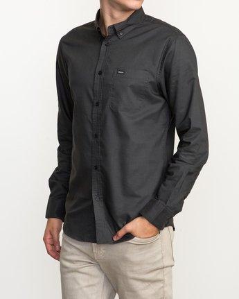 2 That'll Do Oxford Long Sleeve Shirt Black M3515TDL RVCA