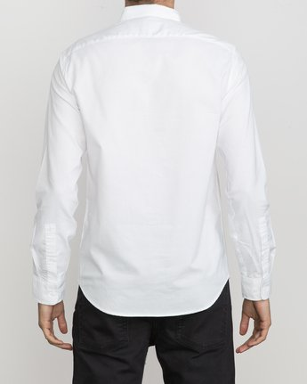 3 That'll Do Oxford Long Sleeve Shirt White M3515TDL RVCA