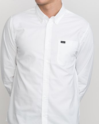 4 That'll Do Oxford Long Sleeve Shirt White M3515TDL RVCA