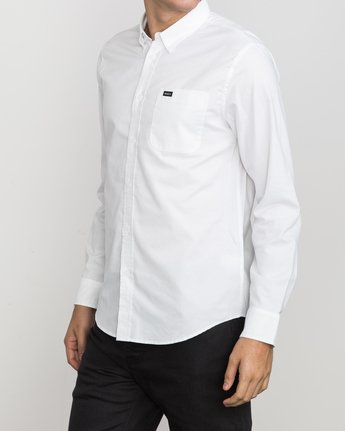 2 That'll Do Oxford Long Sleeve Shirt White M3515TDL RVCA