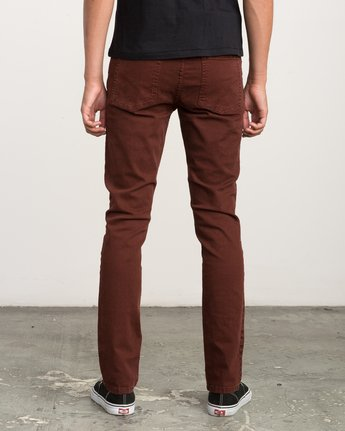 3 Daggers Pigment Slim-Straight Jeans Red M351QRDP RVCA