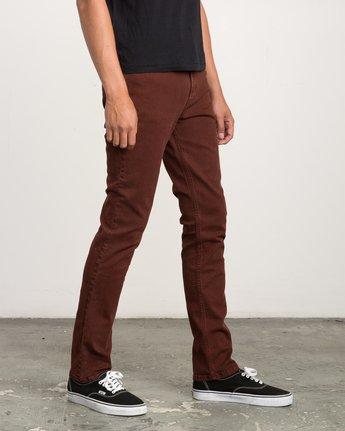 5 Daggers Pigment Slim-Straight Jeans Red M351QRDP RVCA