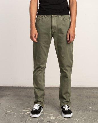 0 Daggers Pigment Slim-Straight Jeans Green M351QRDP RVCA