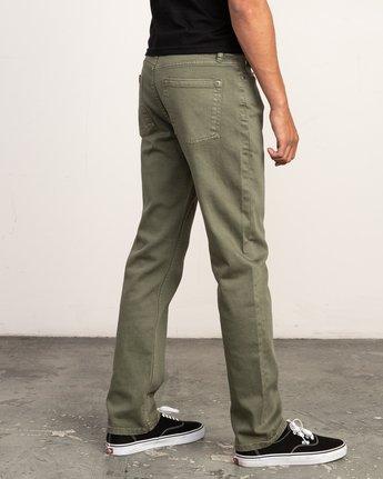 4 Daggers Pigment Slim-Straight Jeans Green M351QRDP RVCA