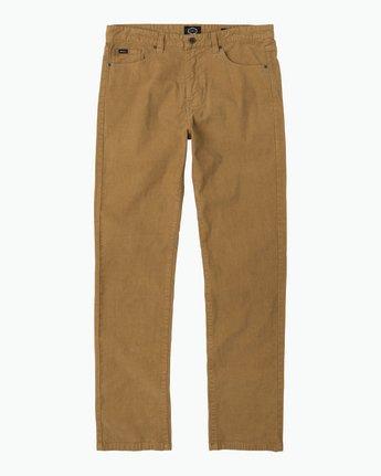 6 Daggers Pigment Corduroy Jeans Brown M352QRDC RVCA