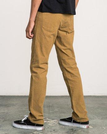 2 Daggers Pigment Corduroy Jeans Brown M352QRDC RVCA