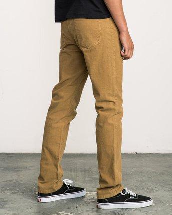 4 Daggers Pigment Corduroy Jeans Brown M352QRDC RVCA
