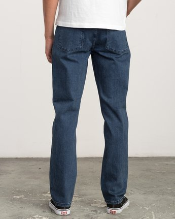 2 Stay RVCA Straight Fit Denim Jeans Blue M354QRSR RVCA