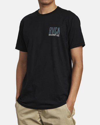 4 HAZED TEE Black M4011RHO RVCA