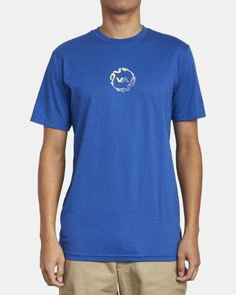 2 INFINITY T-SHIRT Blue M4011RIN RVCA