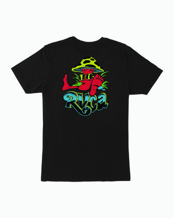 1 MUSHY KID T-SHIRT Black M4011RMU RVCA