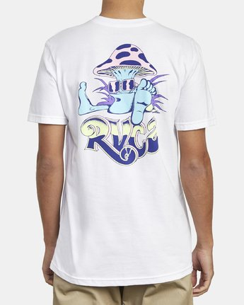 5 MUSHY KID T-SHIRT White M4011RMU RVCA