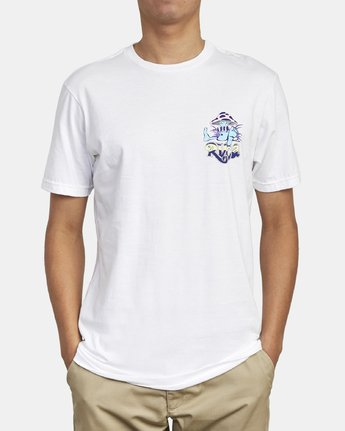 2 MUSHY KID T-SHIRT White M4011RMU RVCA