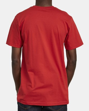 5 SPLIT PIN T-SHIRT Red M4011RSP RVCA