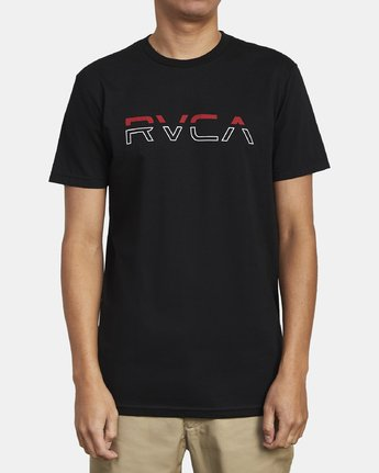 1 SPLIT PIN T-SHIRT Black M4011RSP RVCA