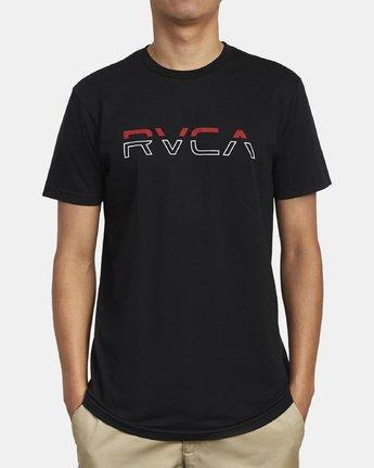 2 SPLIT PIN T-SHIRT Black M4011RSP RVCA