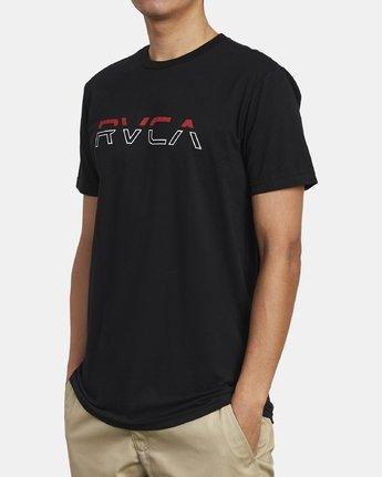3 SPLIT PIN T-SHIRT Black M4011RSP RVCA