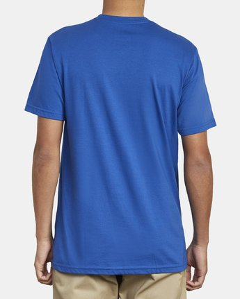 5 SPLIT PIN T-SHIRT Blue M4011RSP RVCA