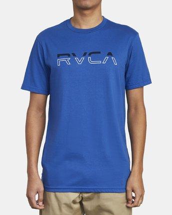 1 SPLIT PIN T-SHIRT Blue M4011RSP RVCA