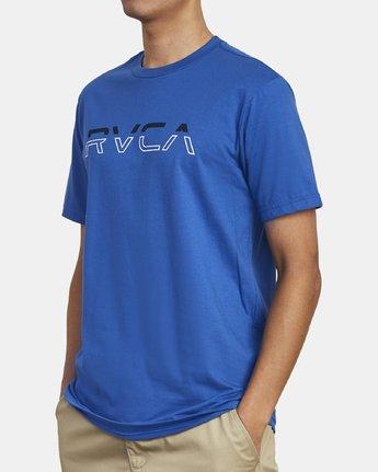 3 SPLIT PIN T-SHIRT Blue M4011RSP RVCA