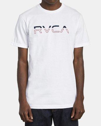 1 SPLIT PIN T-SHIRT White M4011RSP RVCA
