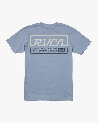 1 TRANSMISSION SHORT SLEEVE TEE Blue M4013RTR RVCA