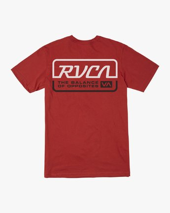 1 TRANSMISSION SHORT SLEEVE T-SHIRT Red M4013RTR RVCA
